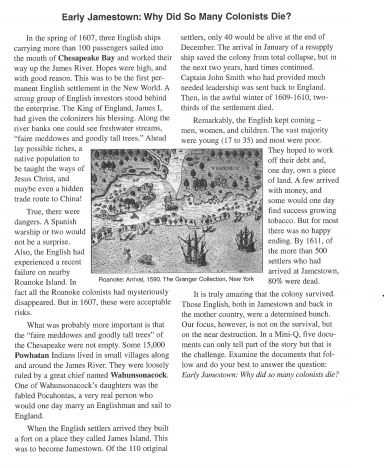 essay jamestown settlement Download thesis statement on jamestown essay in our database or order an original thesis paper that will be written by one of our staff writers and delivered.